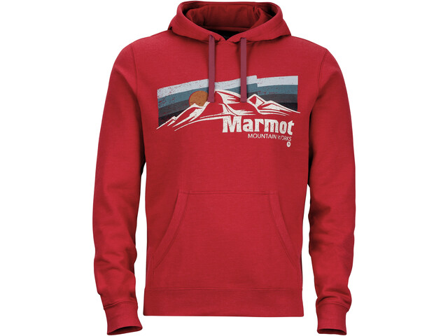 Marmot Sunsetter - Couche intermédiaire Homme - rouge